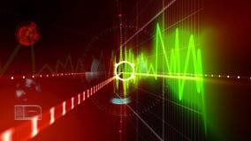 Futurystyczny ekran, diagramy i dane, ilustracja wektor