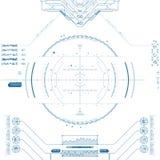 Futurystyczny graficzny interfejs użytkownika Zdjęcie Stock