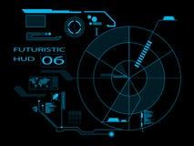Futurystyczny interfejs użytkownika HUD Obrazy Stock