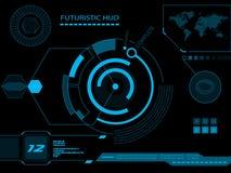 Futurystyczny interfejs użytkownika HUD ilustracji