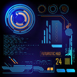 Futurystyczny interfejs użytkownika HUD royalty ilustracja