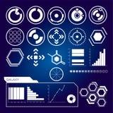Futurystyczny interfejs użytkownika Set biali infographic elementy Fotografia Royalty Free
