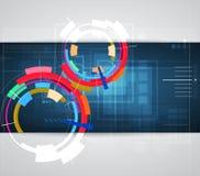 Futurystyczny internet informatyki biznes Zdjęcie Stock