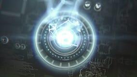 Futurystyczny komputerowy sedno royalty ilustracja