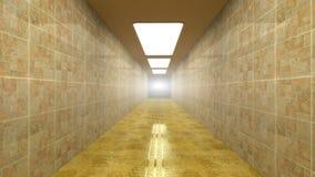 Futurystyczny korytarz ilustracji