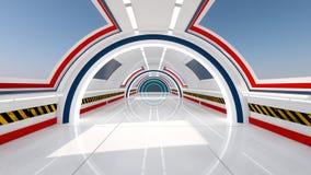 Futurystyczny korytarza wnętrze Zdjęcie Stock
