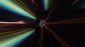 Futurystyczny lekki tunel abstrakcyjny tło royalty ilustracja
