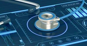 Futurystyczny medyczny app Zdjęcia Royalty Free