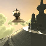 Futurystyczny miasto Zdjęcie Royalty Free