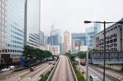 Futurystyczny miasto Hongkong Obraz Royalty Free