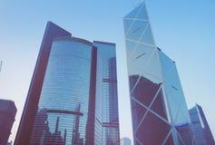 Futurystyczny miasto Hongkong Zdjęcie Stock