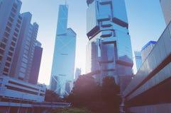 Futurystyczny miasto Hongkong Zdjęcia Royalty Free