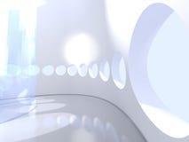 Futurystyczny nowożytny round salowy z szkłem royalty ilustracja