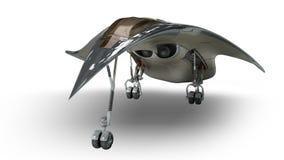 Futurystyczny obcego 3D wojskowego statek kosmiczny Zdjęcia Royalty Free