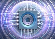 Futurystyczny oka cyber ochrony temat Zdjęcie Royalty Free