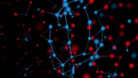 Futurystyczny plexus technologii abstrakta tło świadczenia 3 d ilustracji