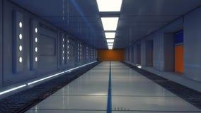 Futurystyczny pusty wewnętrzny korytarz obrazy stock