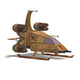 futurystyczny robota scifi statek kosmiczny target1375_0_ Obrazy Royalty Free