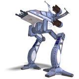 futurystyczny robota scifi statek kosmiczny target1551_0_ Zdjęcia Royalty Free