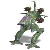futurystyczny robota scifi statek kosmiczny target2145_0_ Zdjęcia Royalty Free