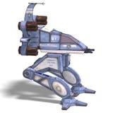 futurystyczny robota scifi statek kosmiczny target485_0_ Zdjęcie Stock