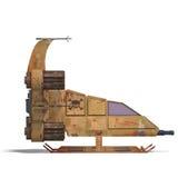 futurystyczny robota scifi statek kosmiczny target499_0_ Zdjęcia Stock