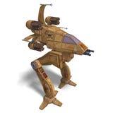 futurystyczny robota scifi statek kosmiczny target76_0_ Zdjęcie Stock
