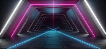 Futurystyczny Sci Fi statku kosmicznego klubu sceny Nowożytny Retro zmrok Pusty ilustracja wektor