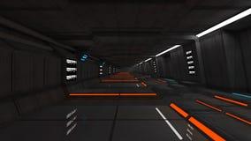 Futurystyczny SCIFI wnętrze Obraz Stock