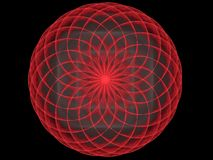 Futurystyczny spirografu wzoru sfery abstrakta fractal Obrazy Stock