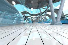 futurystyczny stacyjny metro Obrazy Stock