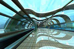 futurystyczny stacyjny metro Zdjęcie Royalty Free