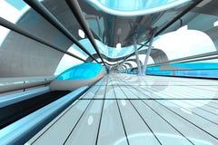 futurystyczny stacyjny metro Zdjęcie Stock
