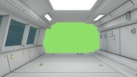 futurystyczny statku kosmicznego Zdjęcia Royalty Free