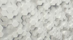 Futurystyczny sześciokąta tło, 3D Photorealistic zdjęcie royalty free