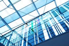 Futurystyczny szklany budynek biurowy Fotografia Royalty Free