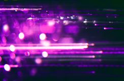 Futurystyczny tło 80's retro styl Digital lub Cyber powierzchnia neonowi światła i geometryczny wzór, test parawanowa usterka ilustracji