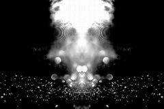 Futurystyczny tło 80's retro styl Digital lub Cyber powierzchnia neonowi światła i geometryczny wzór, test parawanowa usterka zdjęcia stock