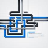 Futurystyczny tło z 3d liniami EPS10 Obrazy Stock