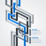Futurystyczny tło z isometric liniami EPS10 Obrazy Royalty Free