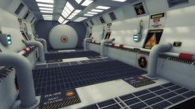 Futurystyczny tło architektury korytarz Obrazy Stock