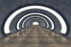 Futurystyczny tło architektury korytarz Fotografia Royalty Free
