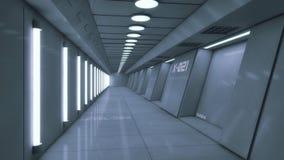 Futurystyczny tło architektury korytarz Fotografia Stock