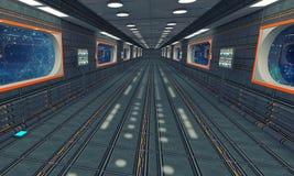 Futurystyczny tło architektury korytarz Zdjęcie Stock