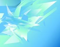 Futurystyczny tło z graniastymi, zirytowanymi kształtami, Abstrakcjonistyczny geomet Obrazy Stock