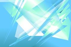Futurystyczny tło z graniastymi, zirytowanymi kształtami, Abstrakcjonistyczny geomet Obrazy Royalty Free