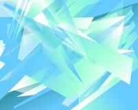 Futurystyczny tło z graniastymi, zirytowanymi kształtami, Abstrakcjonistyczny geomet Fotografia Royalty Free