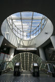 Futurystyczny wejście Warszawska metro systemu po drugie linia Fotografia Stock