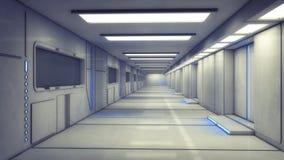 Futurystyczny wewnętrzny korytarz royalty ilustracja