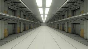 Futurystyczny więzienie ilustracja wektor
